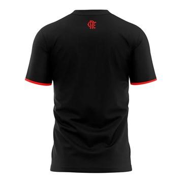 Camiseta Flamengo Braziline Part Infantil - Preto e Vermelho