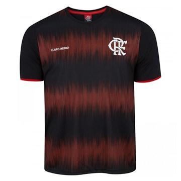 Camiseta Flamengo Braziline Part Masculina - Preto e Vermelho