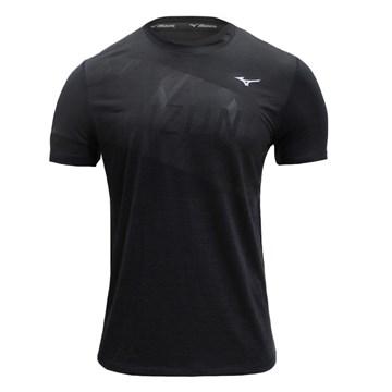 Camiseta Mizuno Impulse Core Graphic Tee Masculina - Preto
