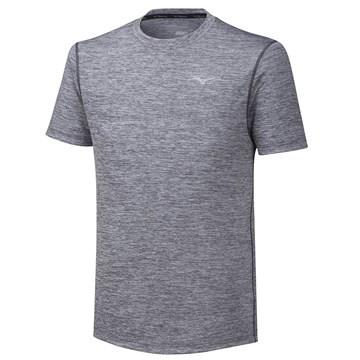 Camiseta Mizuno Impulse Core Tee Masculina - Cinza