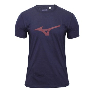 Camiseta Mizuno Soft Run Bird Masculina - Marinho e Vermelho