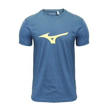 Camiseta Mizuno Soft Run Bird Masculina - Verde e Amarelo
