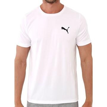 Camiseta Puma Active Small Logo Masculina - Branco
