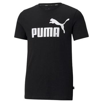 Camiseta Puma Essentials Logo Juvenil - Preto
