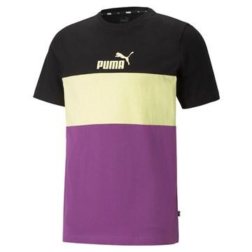 Camiseta Puma Essentials+ Masculina - Preto, Amarelo e Roxo