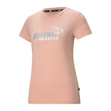 Camiseta Puma Essentials+ Metallic Logo Feminina