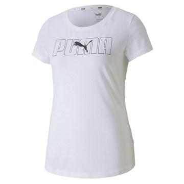 Camiseta Puma Rebel Graphic Tee Feminina - Branco