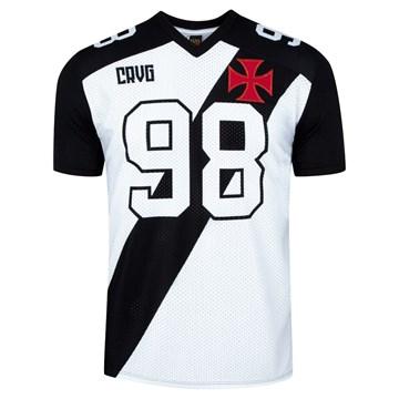 Camiseta Vasco Braziline Atlhete Masculina - Branco e Preto