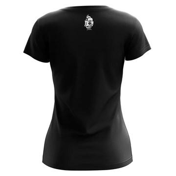Camiseta Vasco Braziline Fold Feminina - Preto e Branco