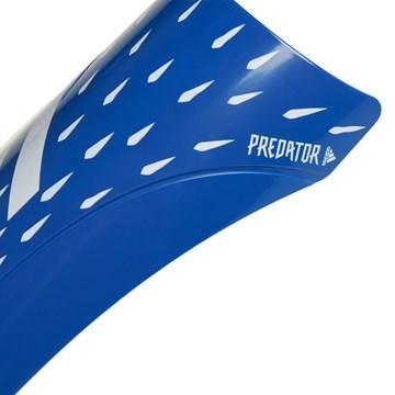 Caneleira Adidas Predator Club - Azul e Branco