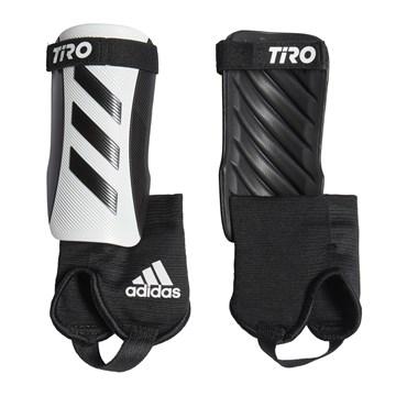 Caneleira Adidas Tiro Match com Tornozeleira  Infantil - Preto e Branco