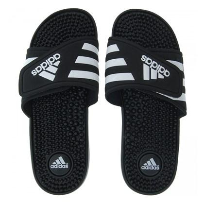 738d6505ca0 Chinelo Adidas Adissage Masculino - Preto e Branco - Esporte Legal