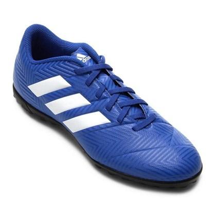 3dd828c2d1 Chuteira Adidas Nemeziz Tango 18.4 Masculina - Azul e Branco ...