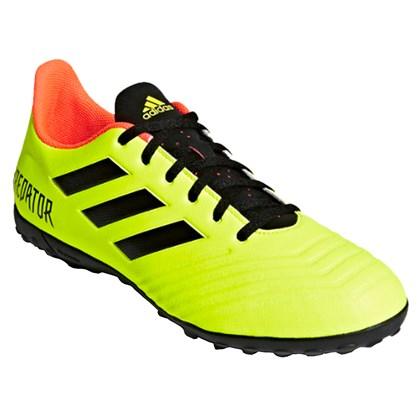 0be0fa5d7 Chuteira Adidas Society Predator Tango 18.4 Masculina - Lima e Preto ...