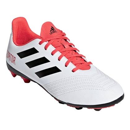Chuteira Campo Adidas Predator 18.4 Infantil - Branco 54002606de369