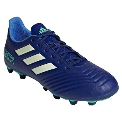 273f7c09a3e4e Chuteira Campo Adidas Predator 18.4 Masculina - Azul e Verde - Esporte Legal