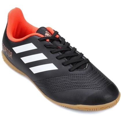 Chuteira Futsal Infantil Adidas Predator 18 4 - Prata e preto ... fbe007d403f7d