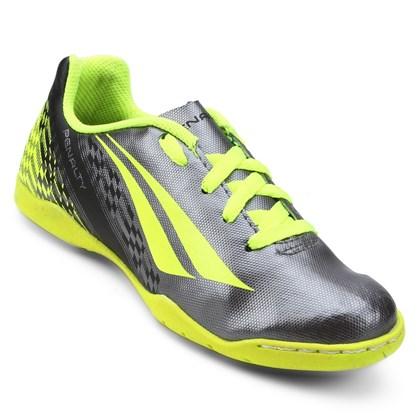 Chuteira Futsal K Soccer Storm 7 Infantil - Prata e Amarelo ... 076bb22a7e88a