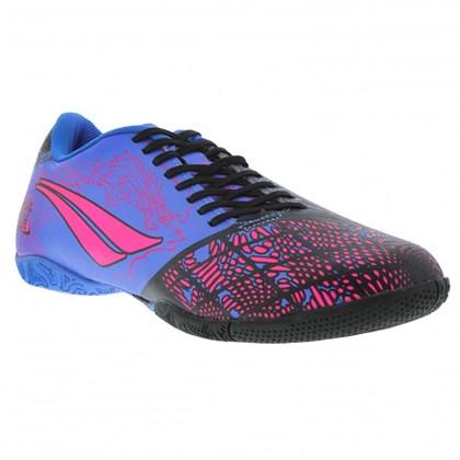 d6861de62039c Chuteira Futsal Penalty Victoria Dragon VII Infantil - Azul e Rosa ...