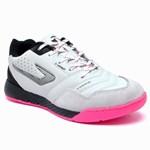 Chuteira Futsal Topper Dominator Pro III - Branco e Rosa