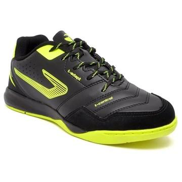 Chuteira Futsal Topper Dominator Pro III - Preto e Amarelo