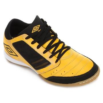 Chuteira Futsal Umbro Chaleira ID - Amarelo e Preto