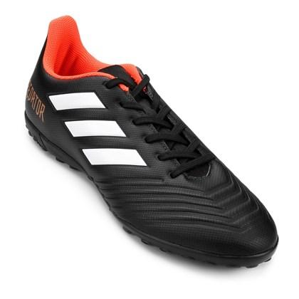 f05c235cb Chuteira Society Adidas Predator 18 4 TF - Preto e Prata - Esporte Legal