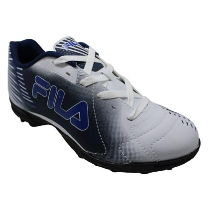 b43df56265 Chuteira Society Fila Control - Branco e Azul Marinho - Esporte Legal