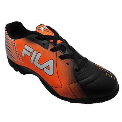 835f52323a Chuteira Society Fila Control - Preto e Laranja - Esporte Legal