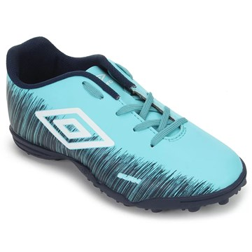 Chuteira Society Umbro Burn Júnior - Azul