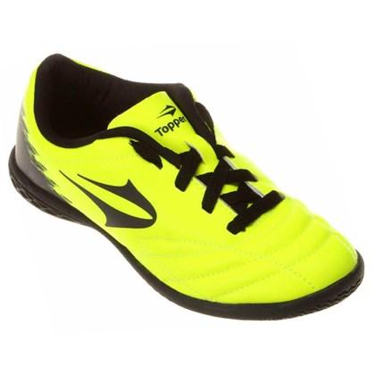 Chuteira Topper Futsal Slick 2 Infantil - Neon e Preto - Esporte Legal 22a5f3af83eef