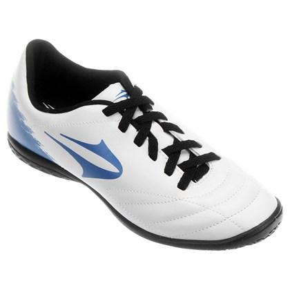 a224846730 Chuteira Topper Futsal Slick II Masculina - Branco e Azul - Esporte ...