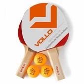 Conjunto de Tenis de mesa Vollo 2 Raq. e 3 bolas