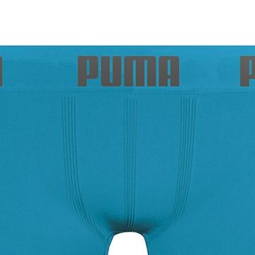 Cueca Boxer Puma Sem Costura Infantil - Azul