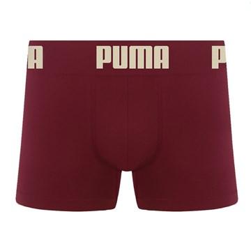Cueca Boxer Puma Sem Costura Infantil - Bordô