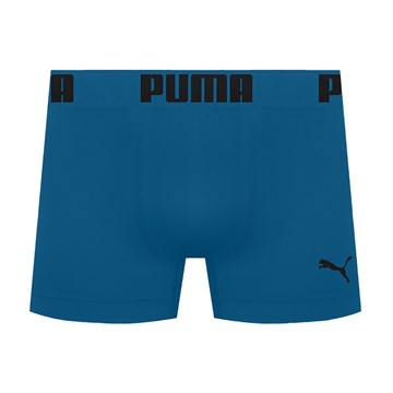 Cueca Boxer Puma Sem Costura Masculina - Azul