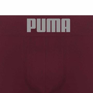Cueca Boxer Puma Sem Costura Masculina - Bordô