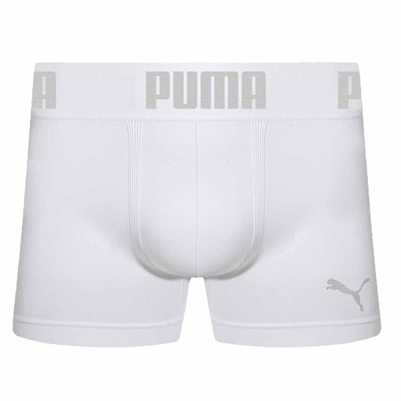 Cueca Boxer Puma Sem Costura Masculina - Branco