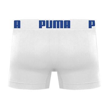 Cueca Boxer Puma Sem Costura Masculina - Branco e Azul