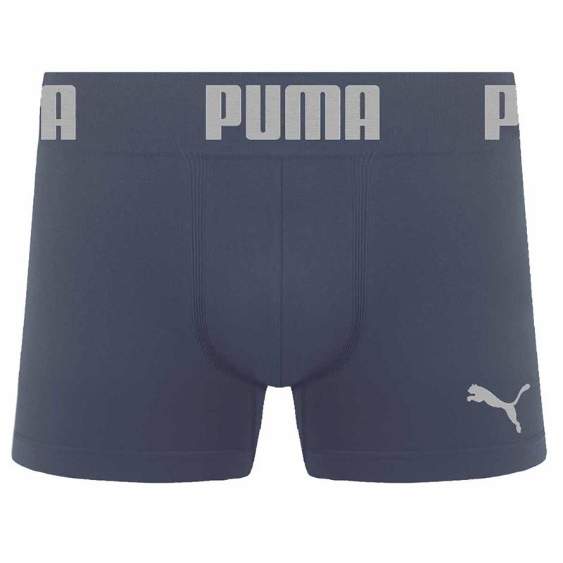 Cueca Boxer Puma Sem Costura Masculina - Chumbo