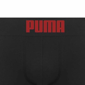 Cueca Boxer Puma Sem Costura Masculina - Preto