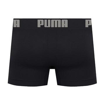 Cueca Boxer Puma Sem Costura Masculina - Preto e Prata