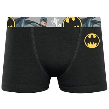 Cueca Boxer Selene Batman Infantil - Preto