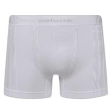 Cueca Boxer Selene Sem Costura Masculina - Branco