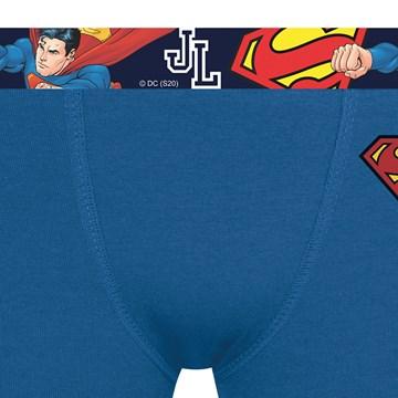 Cueca Boxer Selene Superman Infantil - Azul