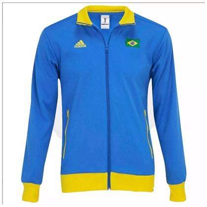 Jaqueta Adidas Brasil Masculina - WC14 G77791 f6e6b256ed559