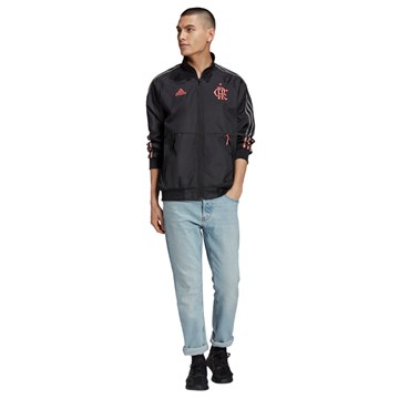 Jaqueta Adidas Hino Flamengo Masculina - Preto