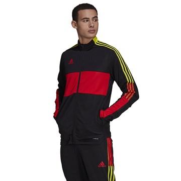 Jaqueta Adidas Tiro Masculina - Preto e Vermelho