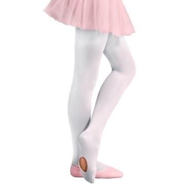Kit 2 Meias-Calças Selene Ballet Fio 40 Infantil - Branco e Rosa