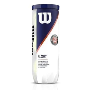 Kit 3 Bolas de Tênis Wilson Roland Garros All Court